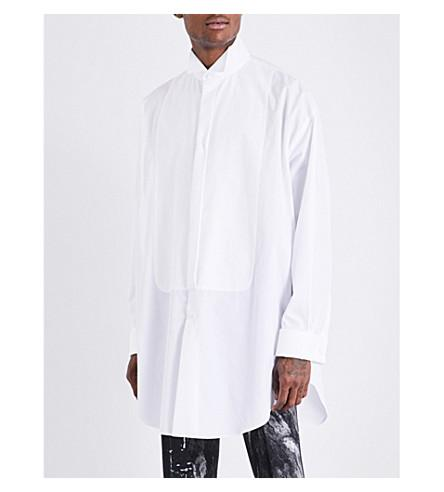 Alexander Mcqueen Oversized Cotton Shirt In White