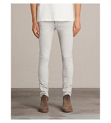 Allsaints Gokase Slim-fit Skinny Jeans In Light Grey