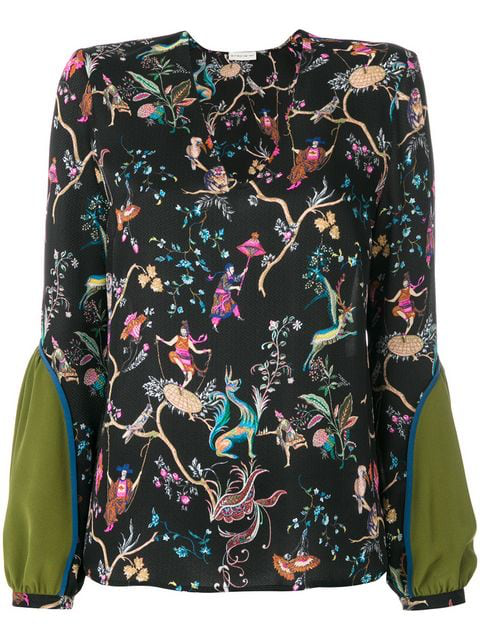 Etro Floral Print Blouse In Multicolored