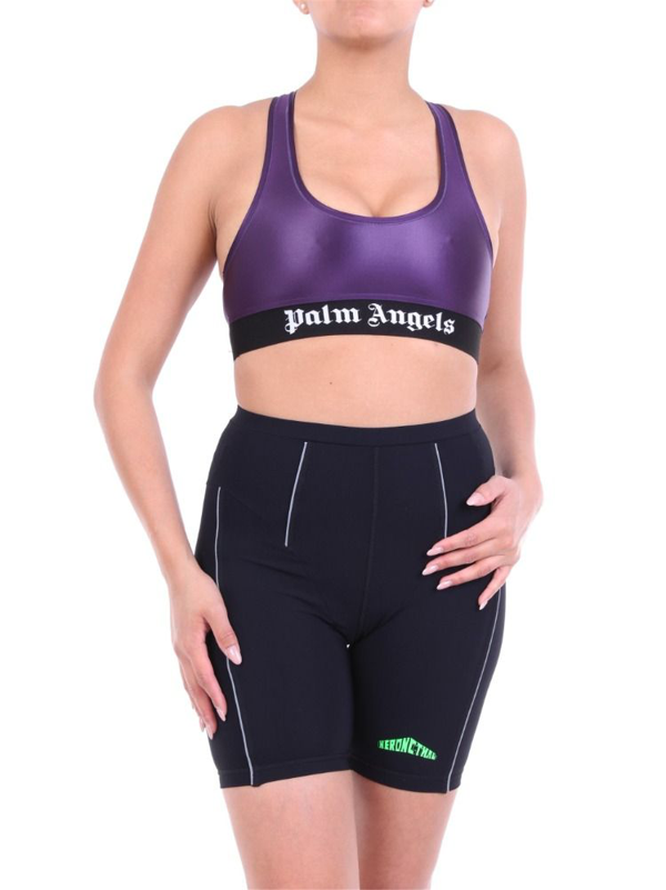 Palm Angels Women's Pwfa009f20fab0018888 Purple Polyamide Tank Top