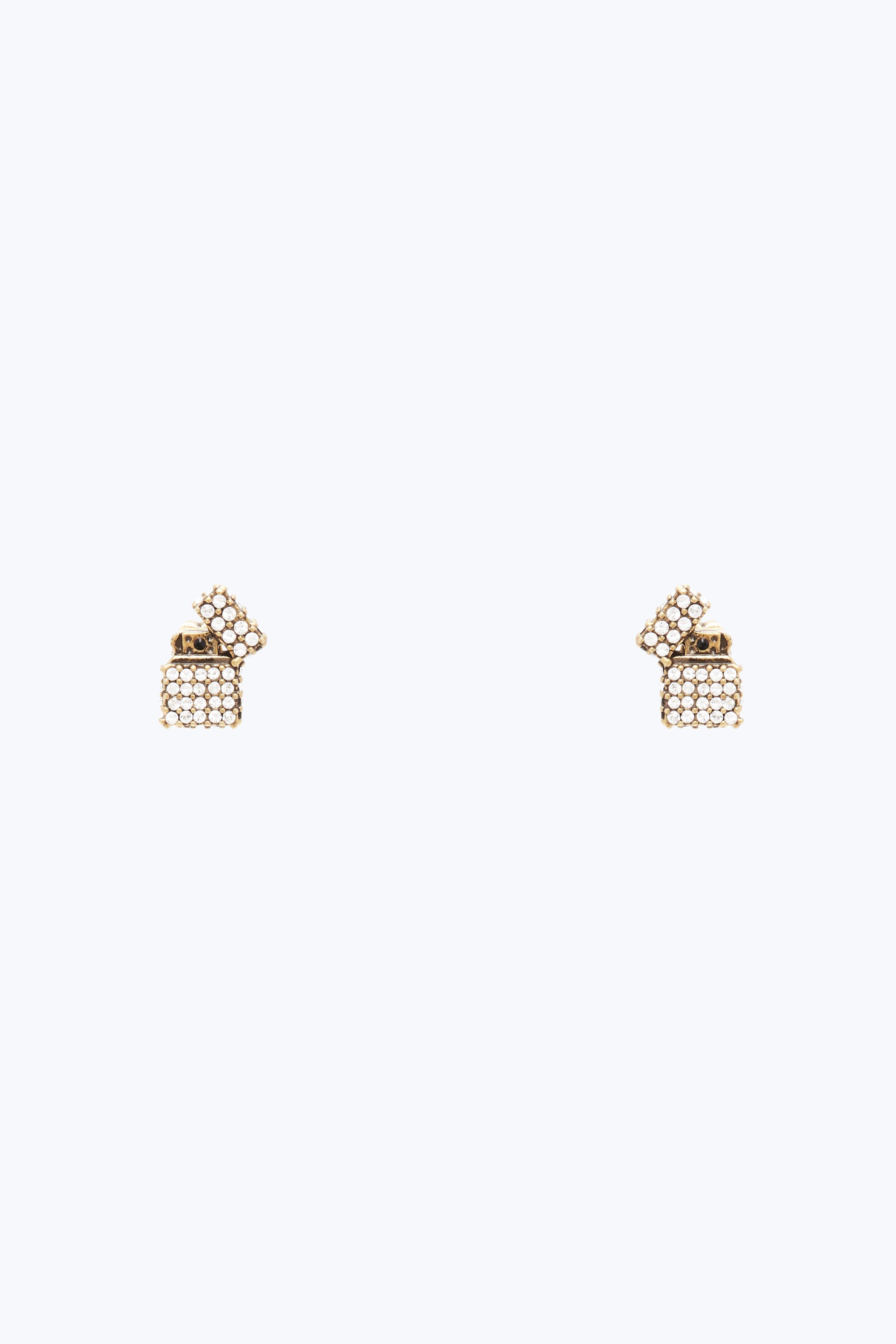 Marc Jacobs Lighter Stud Earrings In Antique Gold