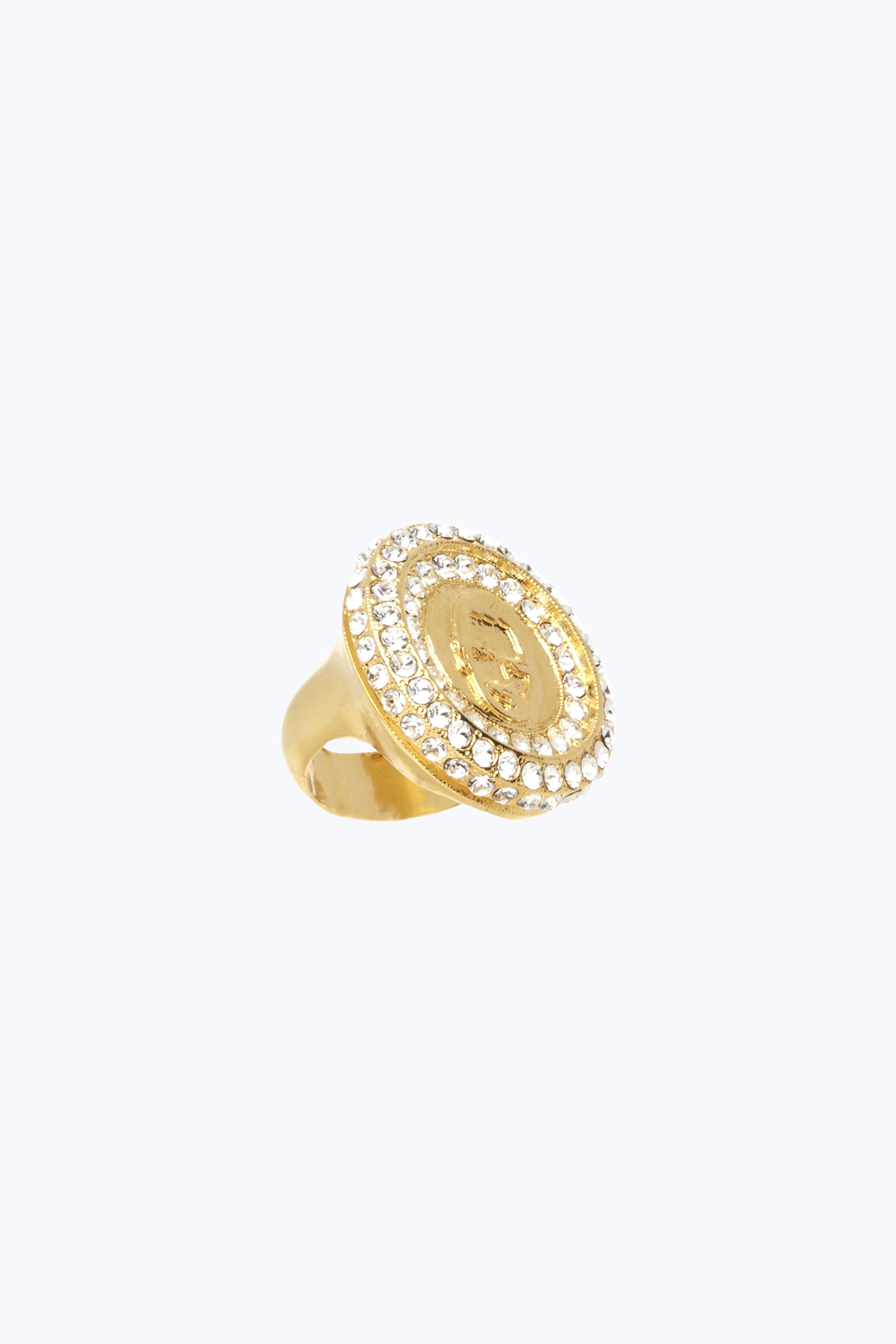 Marc Jacobs Sovereign Ring In Gold