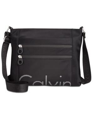 Calvin Klein Athleisure Medium Messenger In Black