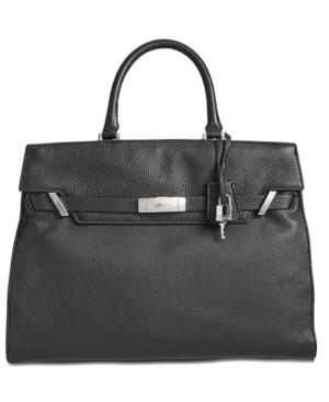 Calvin Klein Belted Large Tote Bag In Black/silver