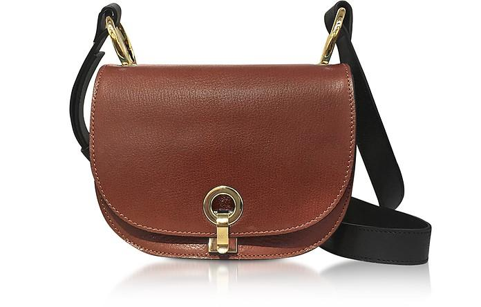 Marni Brown And Gold Leather Minuet Shoulder Bag