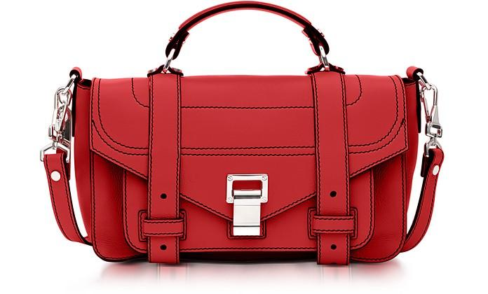 Proenza Schouler Ps1+ Tiny Cardinal Leather Flap Handbag
