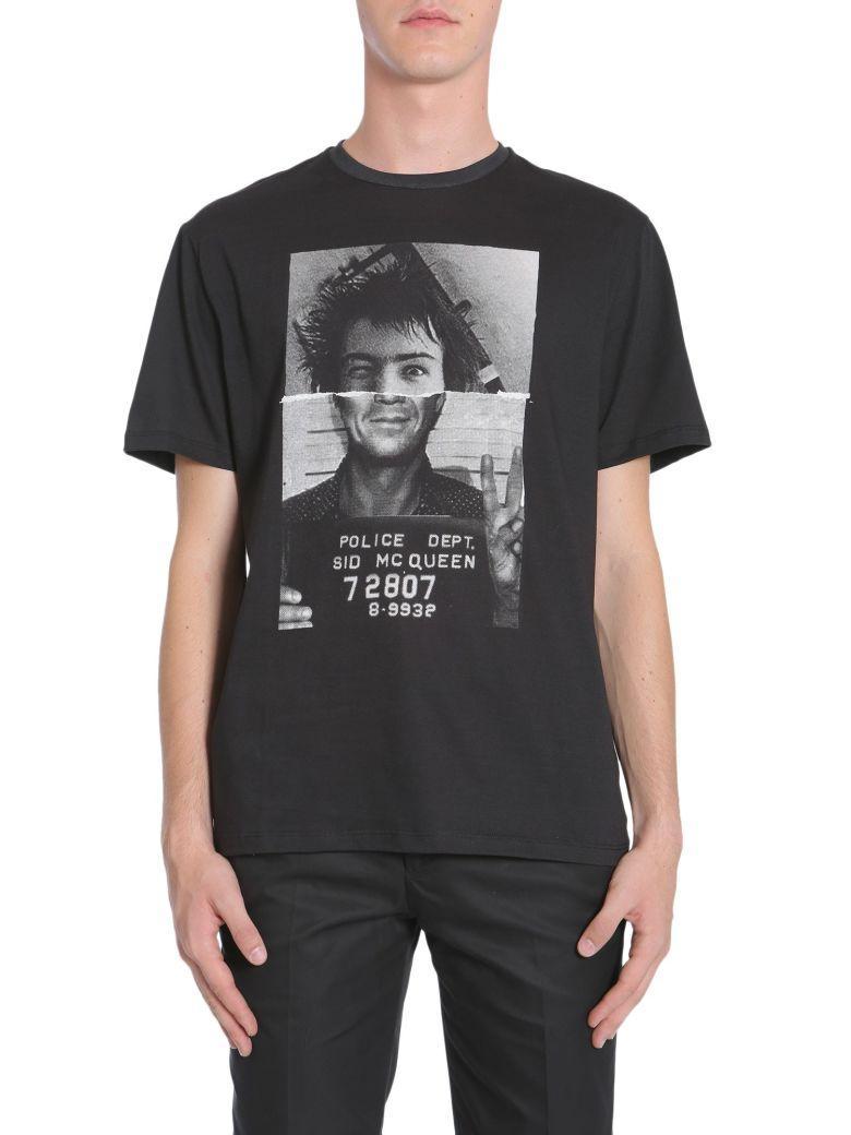 Neil Barrett 'sid Mcqueen' Mugshot Print T-shirt In Black