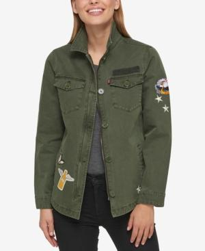 Levi's Cotton Patch Jacket In Army Green