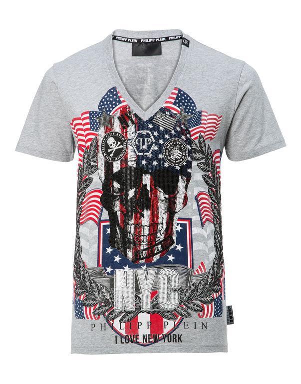 """Philipp Plein T-shirt V-neck Ss """"don"""""""