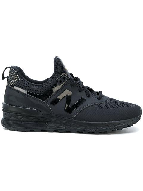 New Balance Women's 574 Sport Casual Sneakers From Finish Line In Black