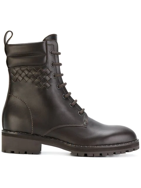 Bottega Veneta Brown Leather Ankle Boots