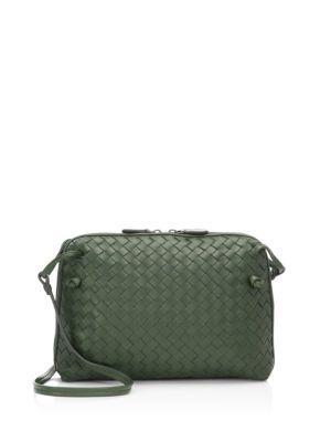 Bottega Veneta Small Pillow Intrecciato Leather Crossbody Bag In Army Moro
