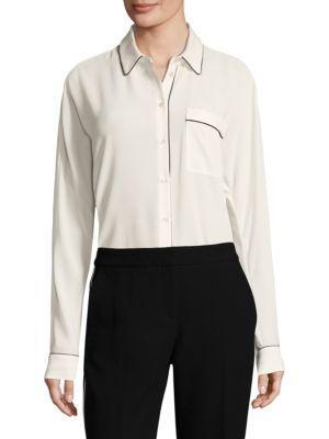 Hugo Boss Benisa Long Sleeve Blouse In White