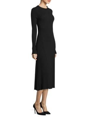 Hugo Boss Faustine Midi Dress In Black