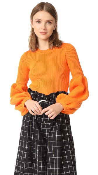 Ksenia Schnaider Wool Mix Sweater In Orange