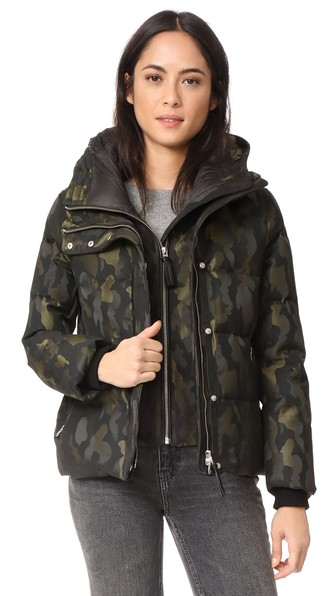 Mackage Cecily Down Jacket In Camo