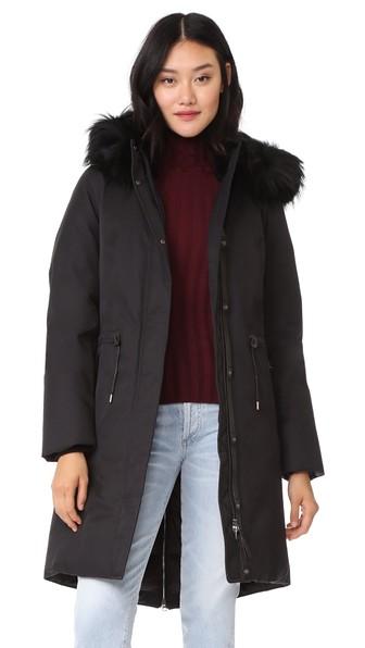 Mackage Enia Down Jacket With Fur Hood In Black