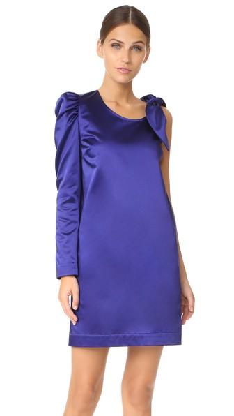Isa Arfen One Sleeve Knot Dress In Purple Rain