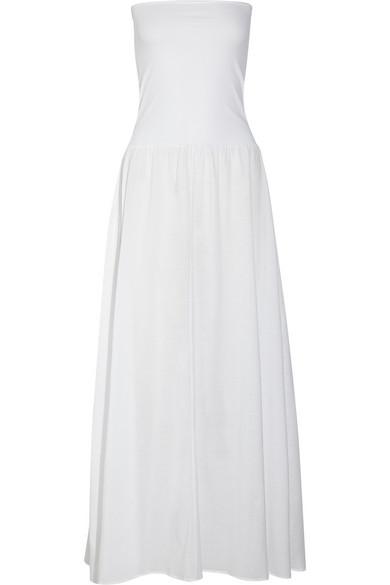 Eres Zephyr Ankara Cotton-jersey Maxi Dress In White