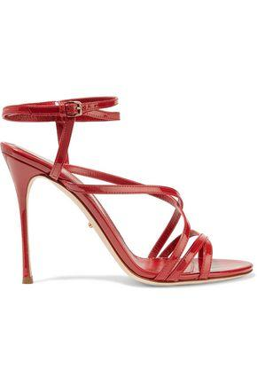 Sergio Rossi Woman Patent-leather Sandals Claret