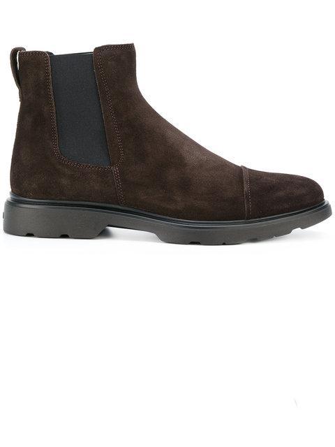 Hogan Chelsea Boots In Brown