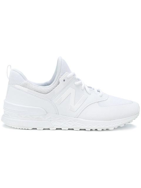New Balance Ms574d Sneakers With Mesh In White
