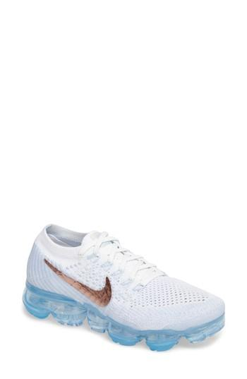 2239bf73c Nike Air Vapormax Flyknit Running Shoe In Summit White  Hydrogen Blue