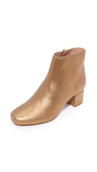 Madewell Margot Boots In Metallic Gold