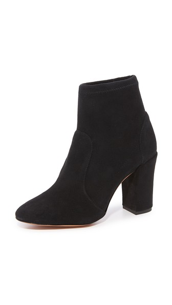 Schutz Ditte Stretch Ankle Booties In Black