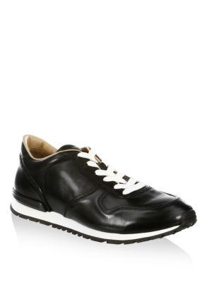 Tod's Classic Leather Trainers In Black