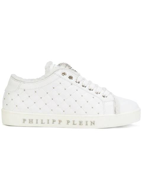 "Philipp Plein Lo-top Sneakers ""edwards"" In White"