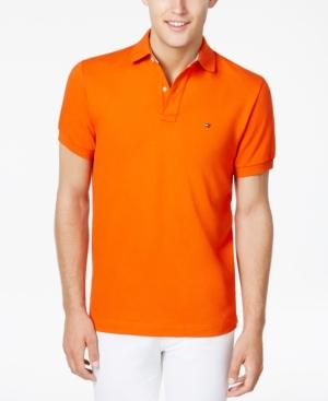 Tommy Hilfiger Men's Classic-fit Ivy Polo In Pumpkin
