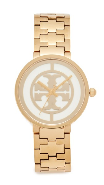 Tory Burch The Reva Watch In Gold/ivory