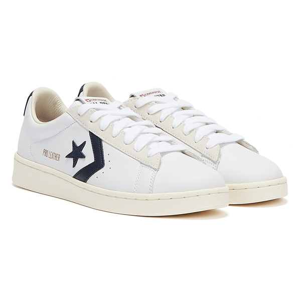 Converse Pro Leather Mens White / Navy Trainers