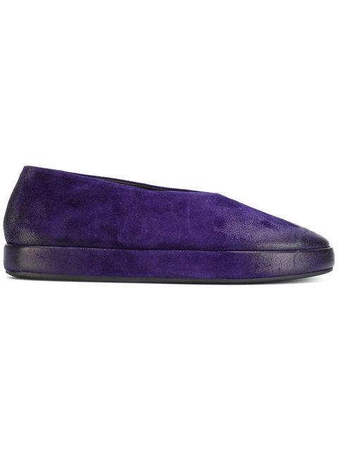 MarsÈll Almond Toe Loafers - Pink & Purple