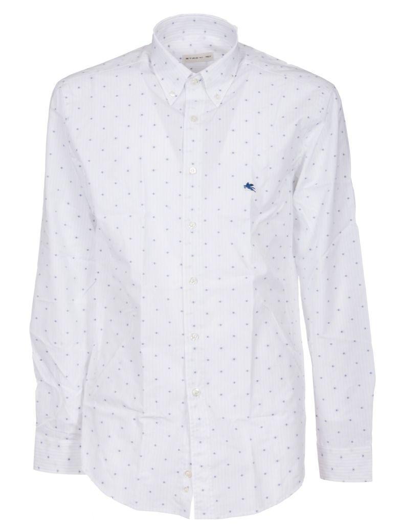 Etro White Fil CoupÉ Cotton Shirt