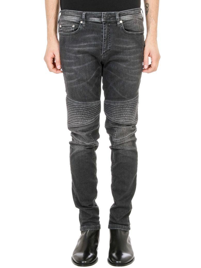Neil Barrett Stonewashed Jeans In Black