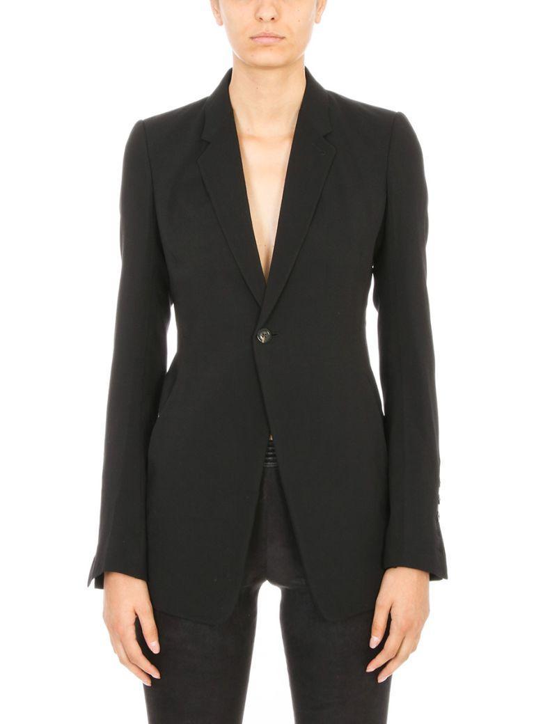 Rick Owens Soft Blazer Jacket In Black