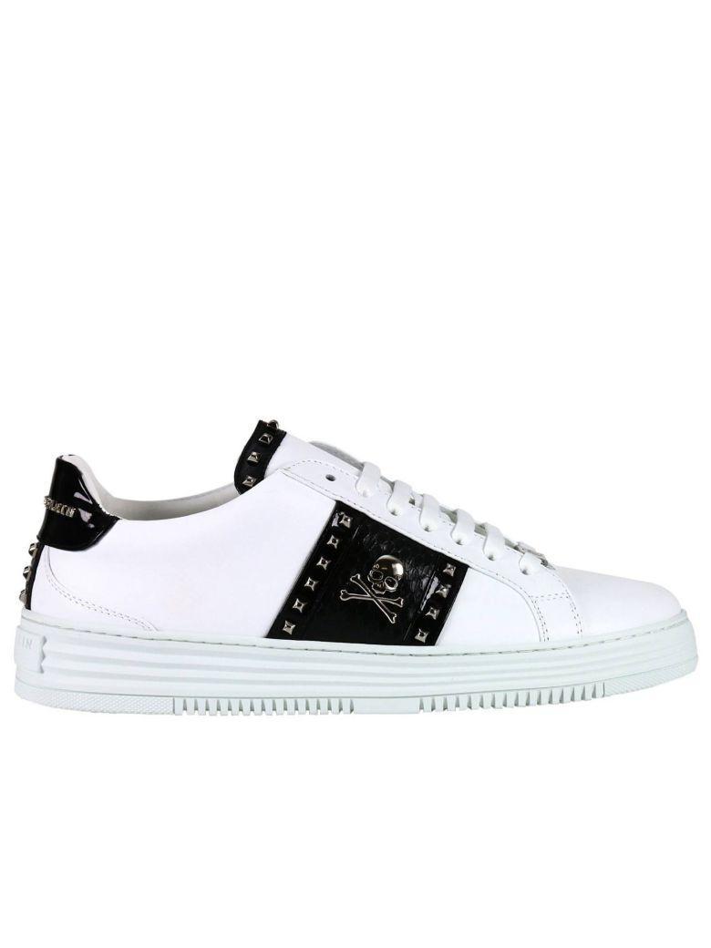 Philipp Plein Sneakers Shoes Men  In White