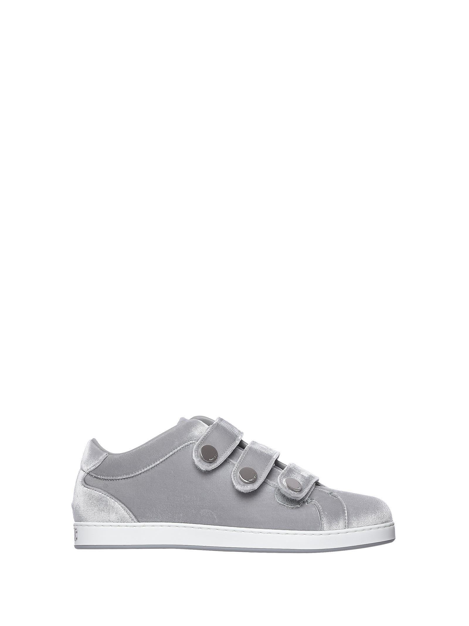 Jimmy Choo Ny Sneakers Trainer Silver In Argento