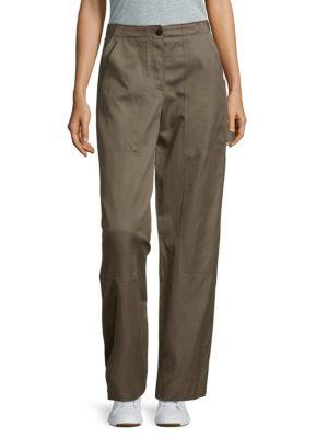 Helmut Lang Patched Cargo Pants In Army Green