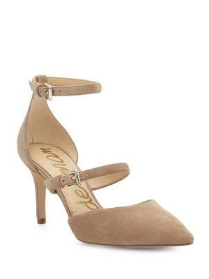Sam Edelman Thea Suede Point Toe Pumps In Oatmeal