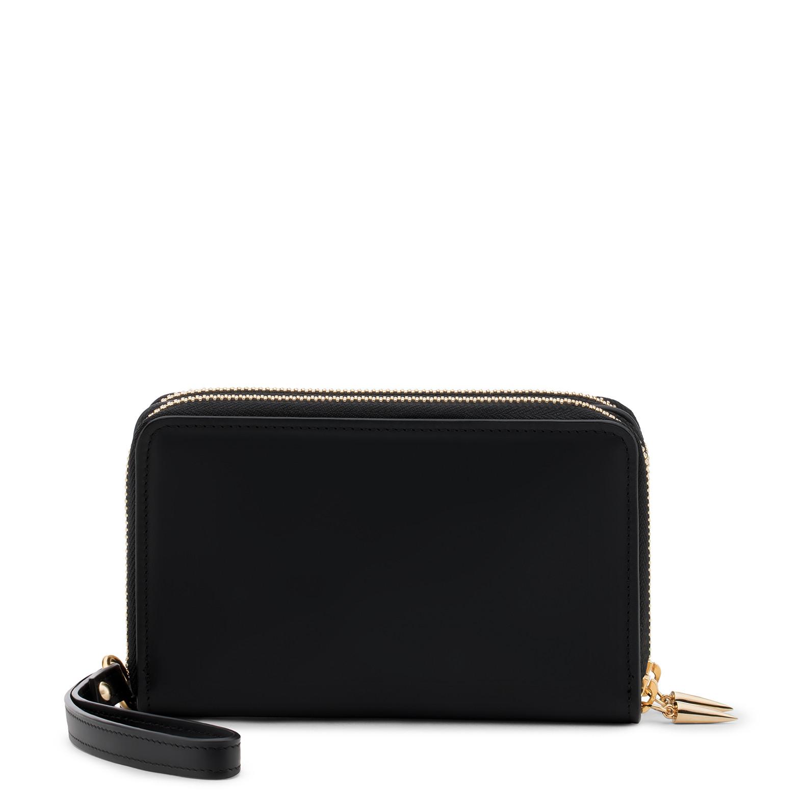Giuseppe Zanotti - Leather Wallet Mathilde In Black
