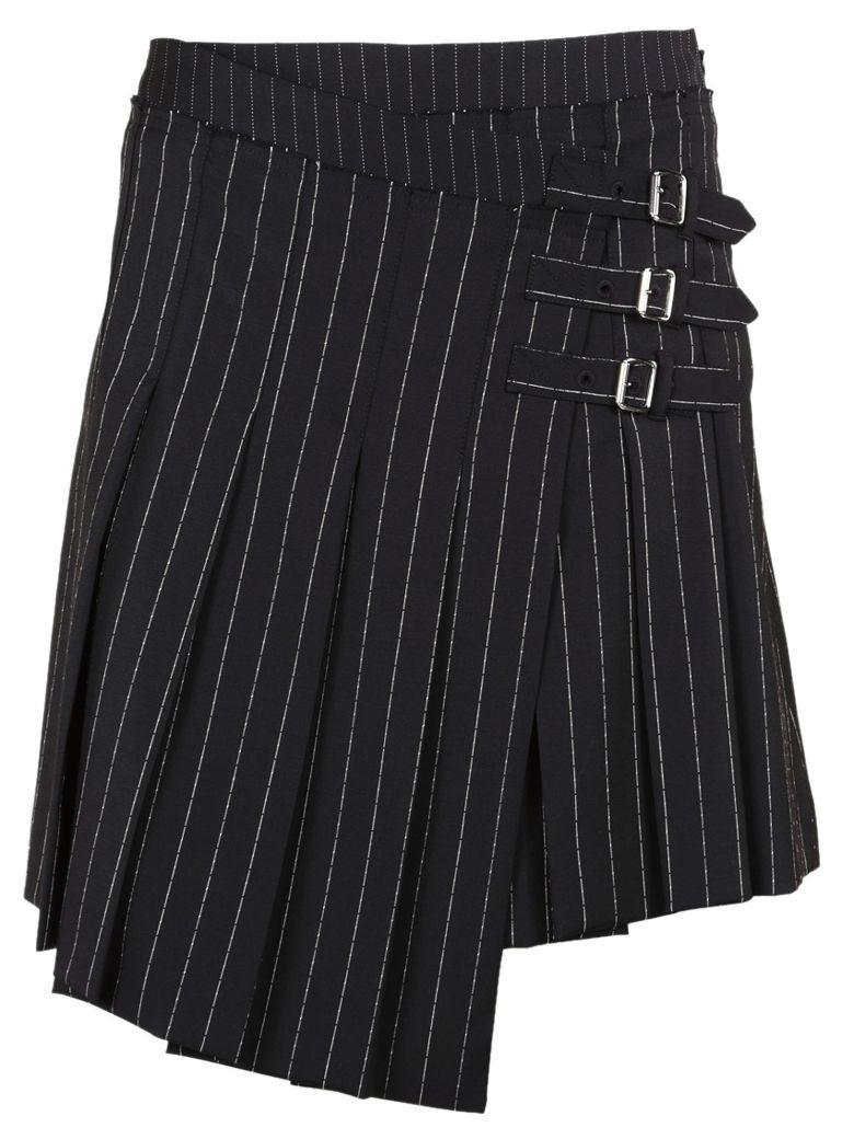 Mcq By Alexander Mcqueen Mcq Alexander Mcqueen Wrap Kilt Pinstripe Skirt In Black