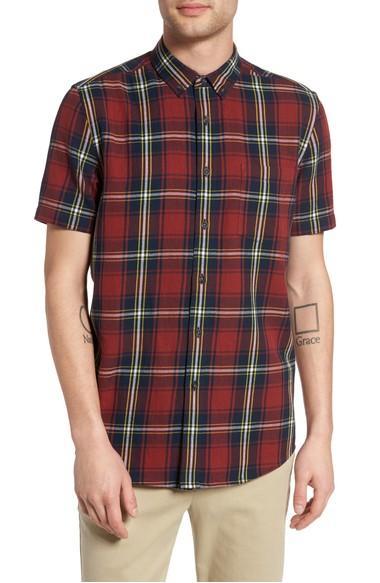 Topman Check Shirt In Red Multi