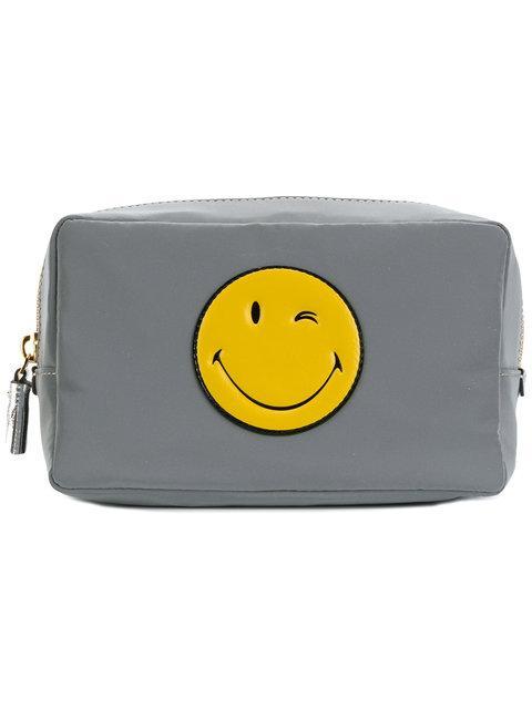 Anya Hindmarch Smiley Make-up Bag - Grey