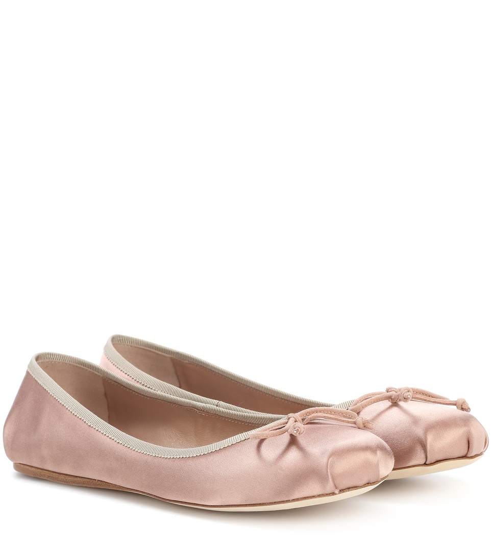 Prada Satin Ballerinas