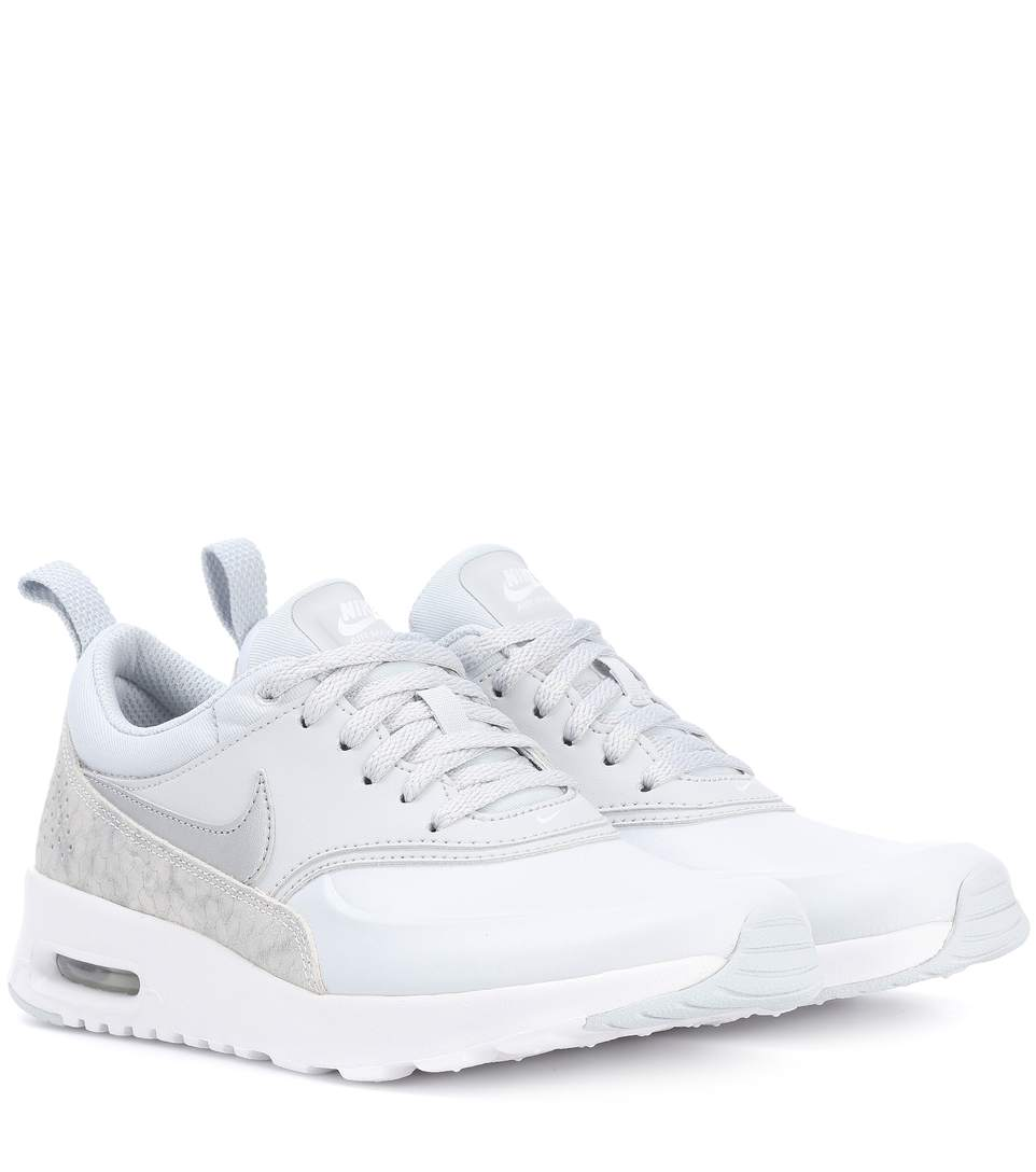 e6e8eedbe8 Nike Air Max Thea Leather Sneakers In Pure Platieum | ModeSens
