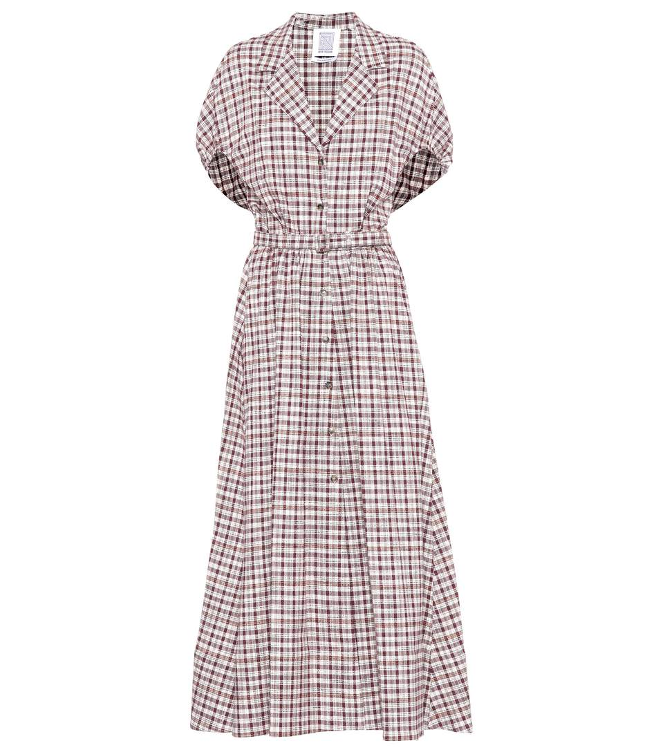 Rosie Assoulin Have The Wind On Your Back Plaid Cotton-blend Dress In Lurguedy Check