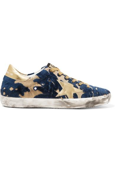 Golden Goose Super Star Distressed DevorÉ-canvas And Leather Sneakers
